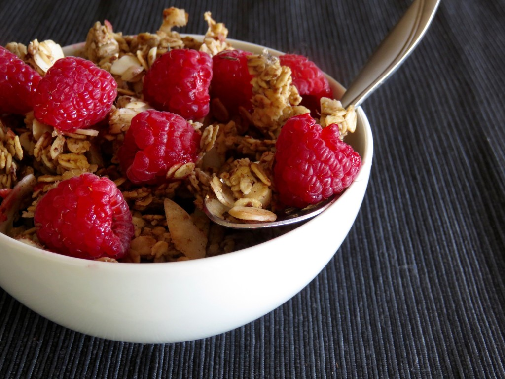 Granola With Raspberries