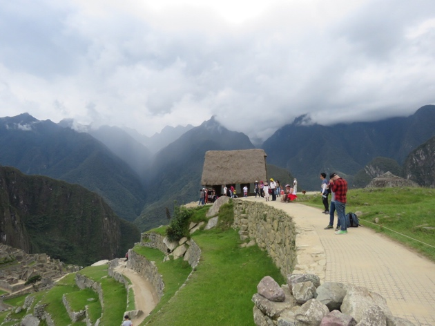 Machu Picchu–Guard house and mountain view