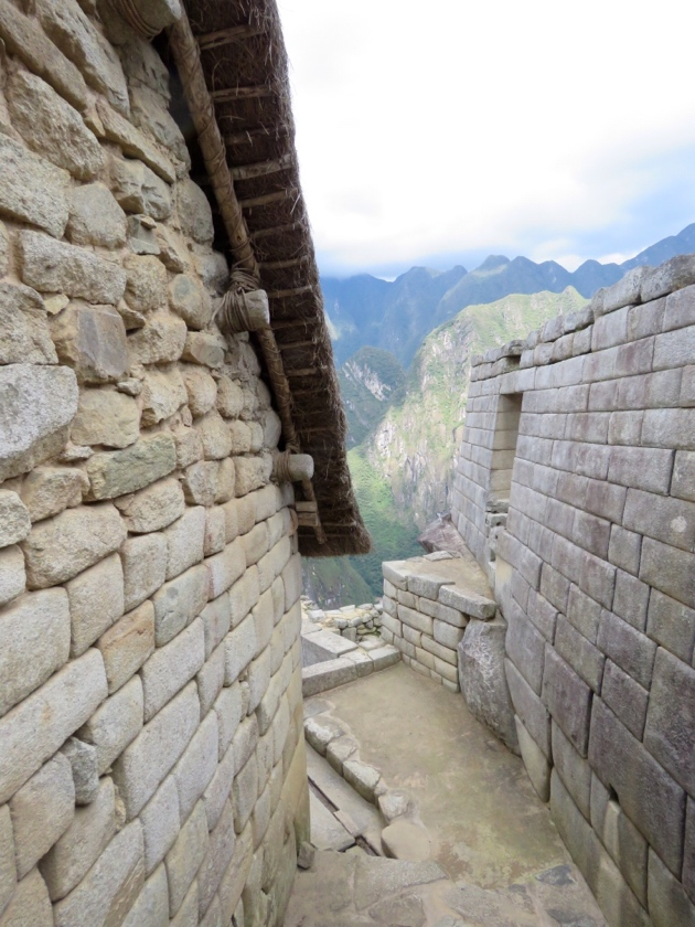 Machu Picchu-Pitched roof with thatch