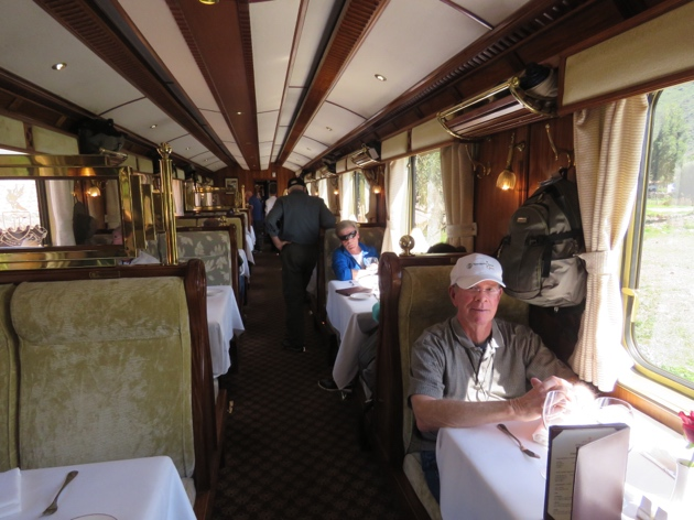 The Hiram Bingham train–Dining Car