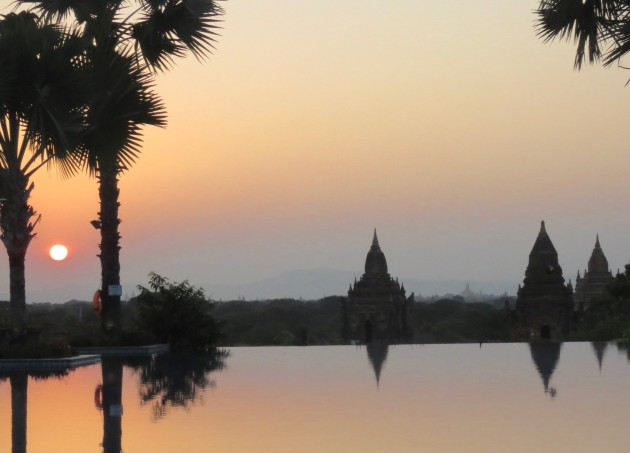 Bagan, Myanmar–Pagodas At Sunset2