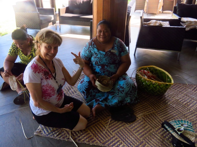 Samoa–this lady wove me a headband