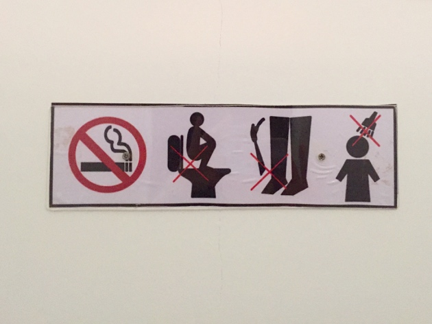 Siem Reap–sign in toilet