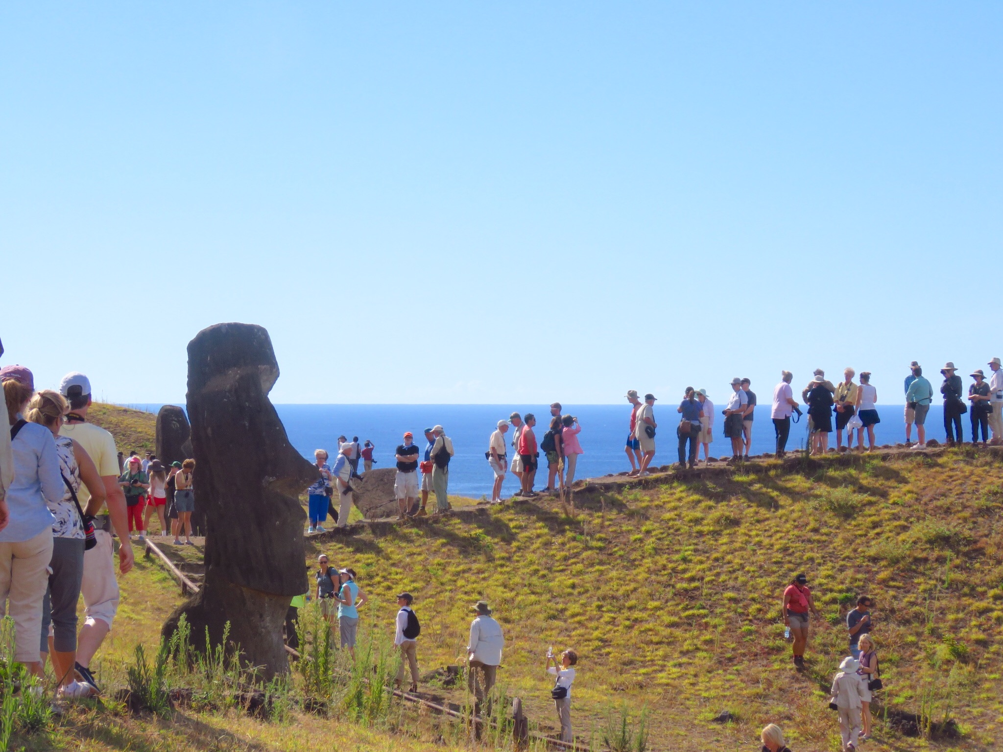 Touring Easter Island