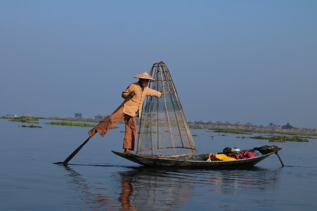Myanmar–Inle Lake–Another leg rower (Ingrid Klove)