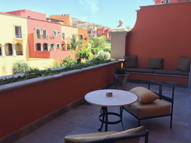 Our large patio at Rosewood Hotel, San Miguel de Allende
