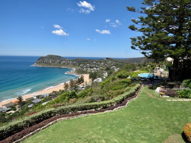 At Jonah's, looking over Whale Beach toward Mona vale
