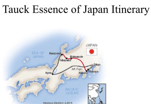 Map of our Japan trip